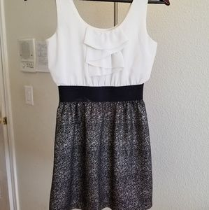 Dresses & Skirts - White Black Silver Dress Size Small